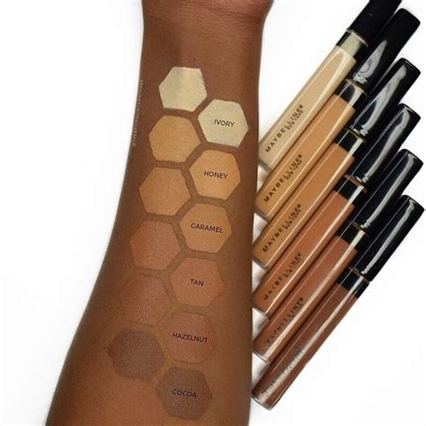 Concealer Maybelline Fit Me maybelline fit me concealer swatches on skin the
