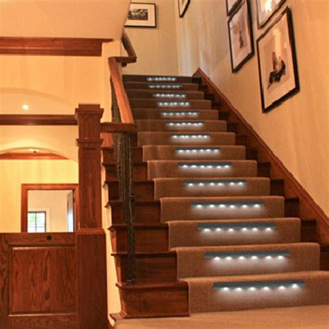 led stair lights battery powered wireless pir motion sensor led battery powered night light