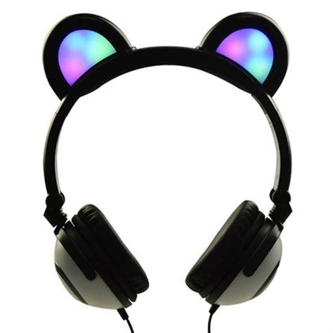 light up cat headphones skusky dj style light up cat headphones