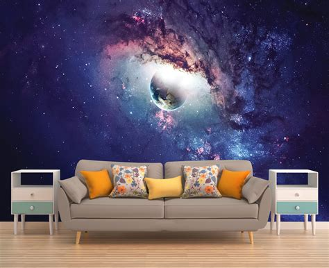 outer space wall mural galaxy mural space wallpaper outer space wall mural