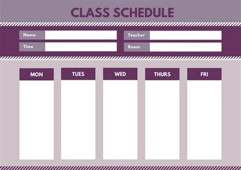 dance class schedule template image collections