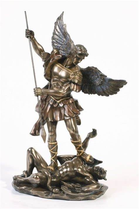 archangel saint michael victory over lucifer satan devil