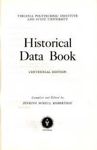 historical data book title page