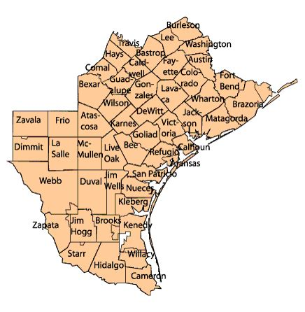 southeast texas county map map of southeast texas my