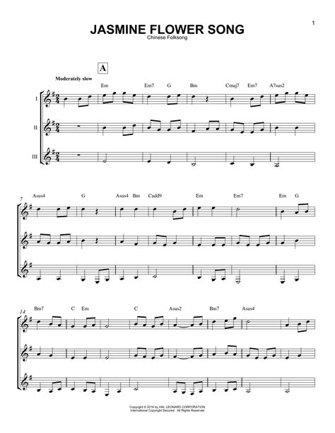 song tab flower song by folksong guitar ensemble