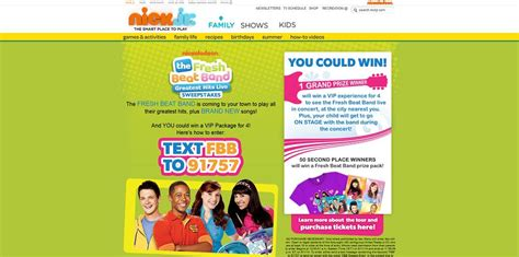 Sms Sweepstakes - fresh beat band greatest hits live sms sweepstakes at freshbeatbandsweeps com see