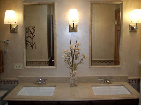 two bathroom decorative bathroom vanity mirrors in elegant bathroom