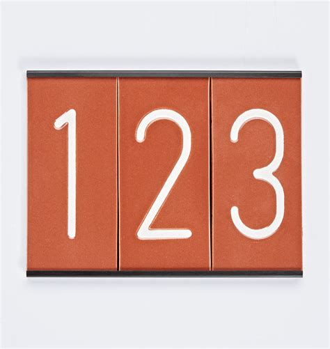 ceramic house numbers modern ceramic house numbers rejuvenation
