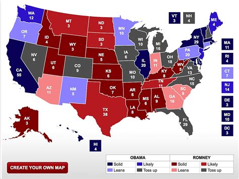 2016 swing states blue red and swing states usa 2016