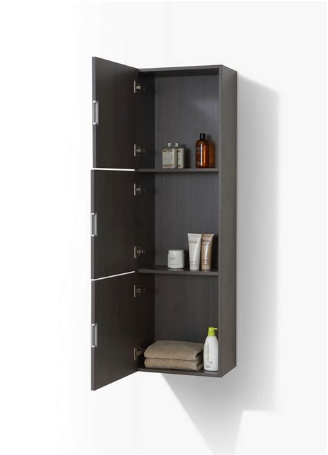 side of cabinet storage bathroom gray oak linen side cabinet w 3 large storage