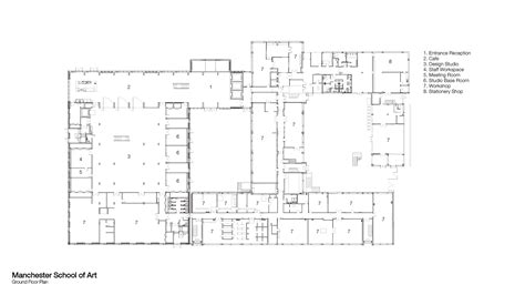 floor plan art manchester school of art work fcbstudios