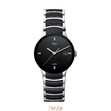 original Rado centrix jubile wrist watch for men in black diamond dial automatic   7 Star Watches
