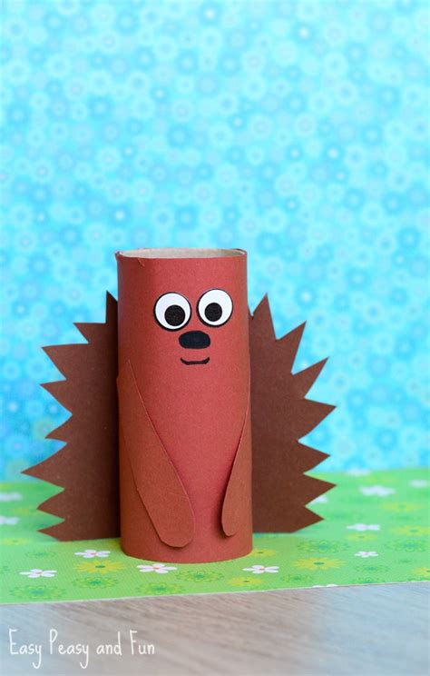 what crafts can you make with toilet paper rolls paper roll hedgehog craft for easy peasy and
