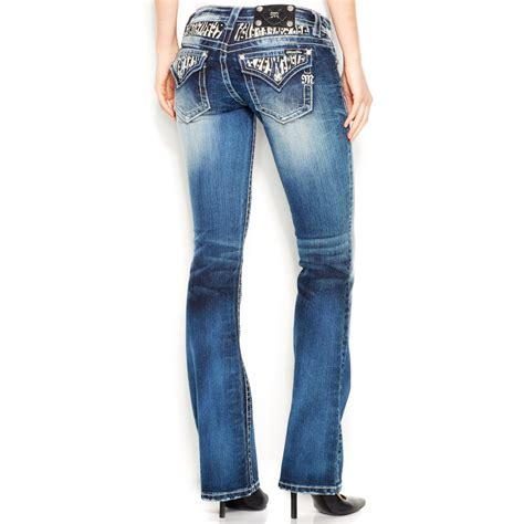 Miss Portable Gadget Brings Bling To The Pocket Knife by Miss Me Studded Rhinestone Bootcut In Blue Lyst