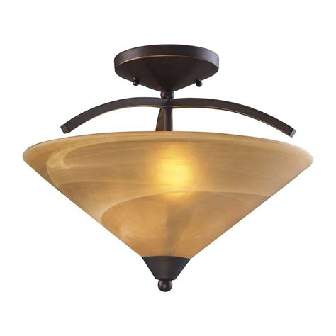 Ceiling Lights Semi Flush Mount Lighting Harmony 2 Light Aged Bronze Ceiling Semi Flush Mount Light Sl866262 The Home Depot