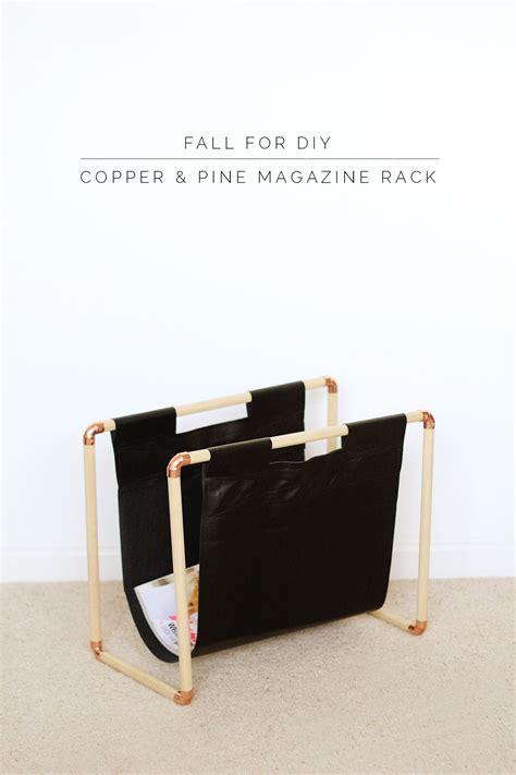 diy copper pine magazine rack fall for diy