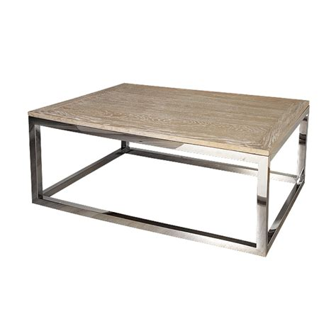 Wood And Stainless Steel Coffee Table Hstead Coffee Table Oak Wood Stainless Steel Astral Lighting Ltd