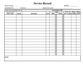 service record template best photos of record log template free payment record