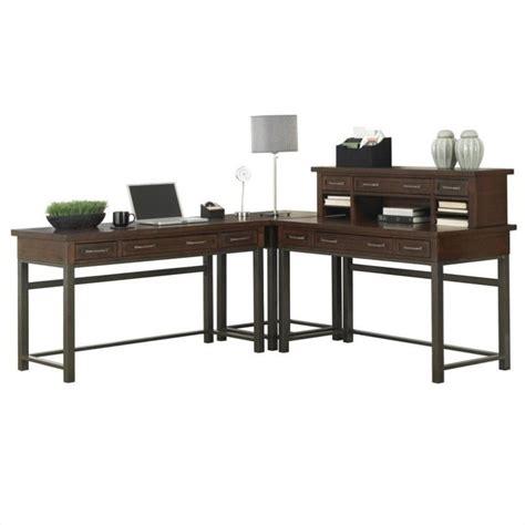 corner l desk corner l shaped desk in chestnut finish 5411 1527