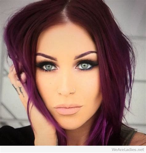 hairstyles and color for blue eyes purple hair color and blue eyes