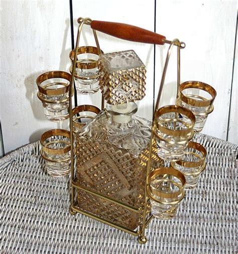 classic barware mad men bar set retro bar set barware shot glasses