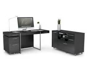 Office Desk Black Black Painted Home Office Computer Desk Design With Wheels Drawer Printer Storage And Steel Leg