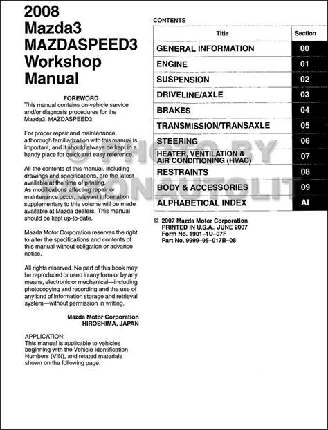 free auto repair manuals 2009 mazda mazda3 regenerative braking mazda 3 service repair manuals