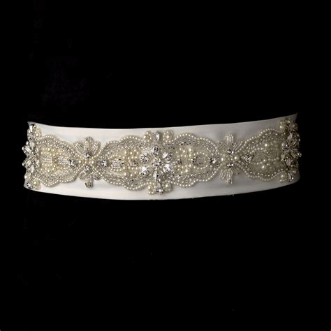 beaded wedding belt pearl rhinestone bugle beaded sash bridal belt item