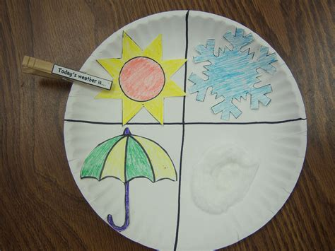 weather crafts for letter w storytime