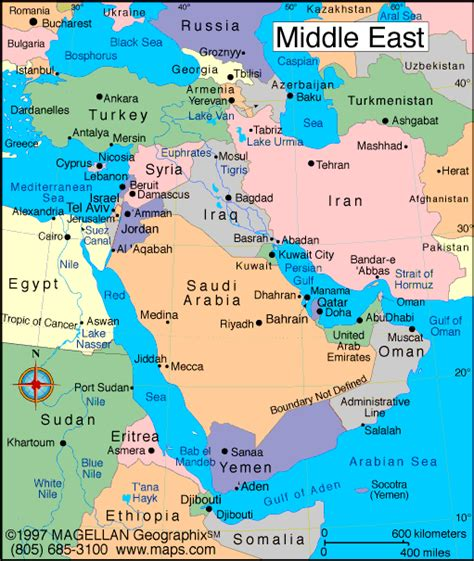 mideast map countries fanss study 3 middle east