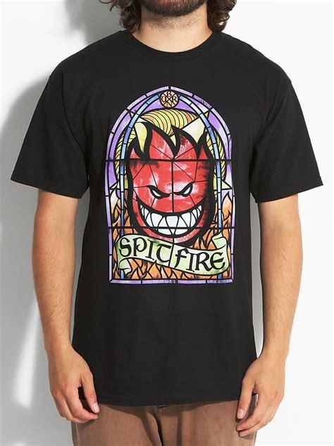 spitfire wheels spitfire emblem t shirt skateboard