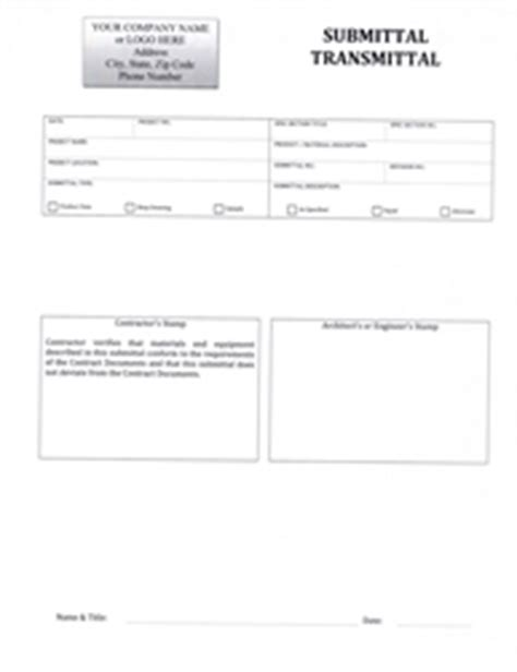 Submittal Cover Sheet Template by Construction Submittal Cover Sheet Template