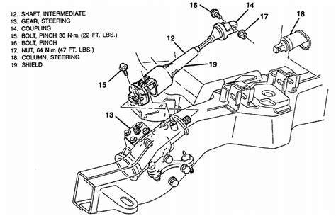 wiring diagram for the steering column of a 2002 chevrolet silverado auto parts diagrams