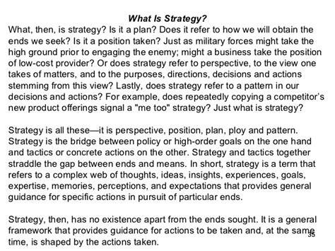 Strategic Cost Management Notes For Mba by Business Policy Strategic Management For Mba