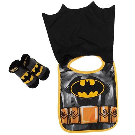 Kaos Batman 8 Boy Clothing batman baby infant bib and booties set clothing