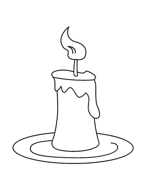 candle on plate coloring pages best place to color