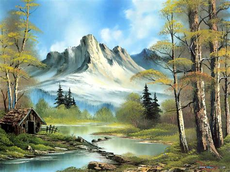 bob ross painting log cabins 1000 images about bob ross favorite painter on