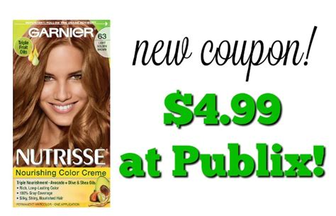 garnier hair color coupons garnier nutrisse hair color coupon 4 99 at publix