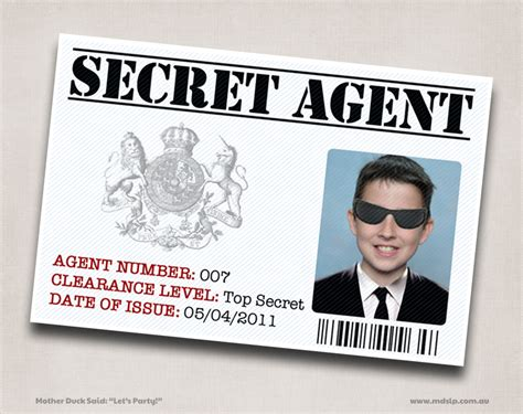 007 Id Card Template by Duck Said Quot Lets Quot Secret Birthday