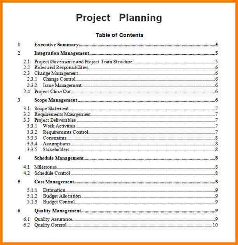 project plan outline template free project planning template cyberuse