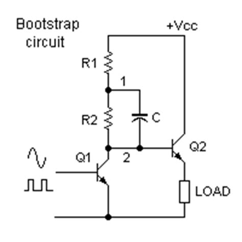 bootstrap capacitor principle electromathematics and electronics