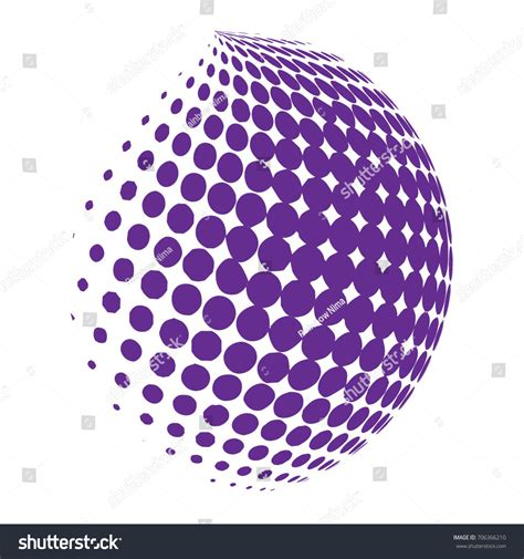dot pattern globe abstract globe dotted sphere 3d halftone stock vector