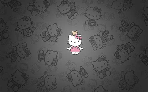 wallpaper hello kitty black and white hello kitty black and pink wallpaper 60 images