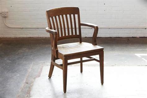 Wh Gunlocke Chair Co by 1920s Solid Oak Office Armchair By W H Gunlocke Chair Co