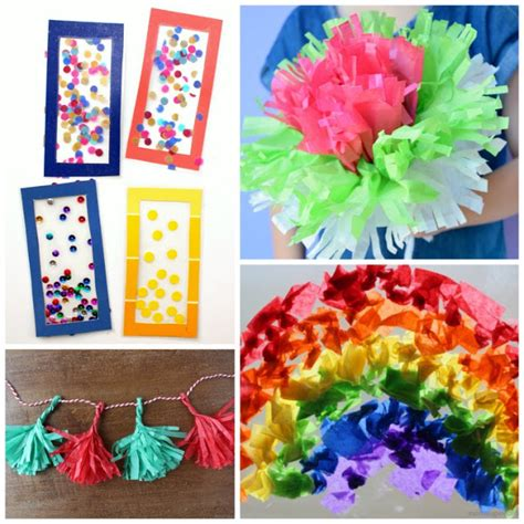 Tissue Paper Craft - beautiful tissue paper crafts for what can we do