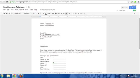 buat lamaran kerja online membuat surat lamaran kerja via cara membuat surat