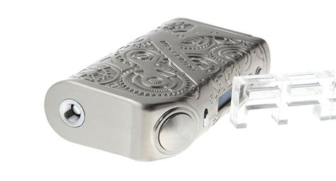 Tesla Steunk Nano Mod 120w Silver Authentic 38 77 authentic tesla nano 120w vw apv box mod 7 120w 2 18650 temperature lock oled
