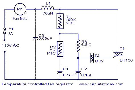 circuit diagram of fan with capacitor power supply can this temperature controlled fan circuit be modified for different input