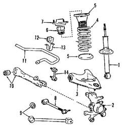 Diagram Of Car Struts Ls400 1997 Suspension Diagram Clublexus Lexus Forum