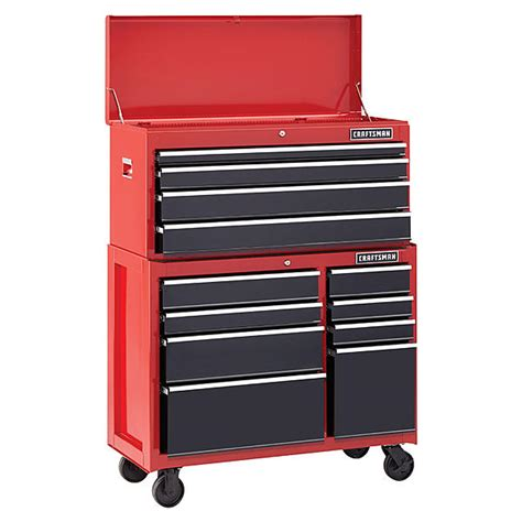 Craftsman 4 Drawer Rolling Tool Chest by Craftsman 115787 41 Inch 8 Drawer Heavy Duty Bearing